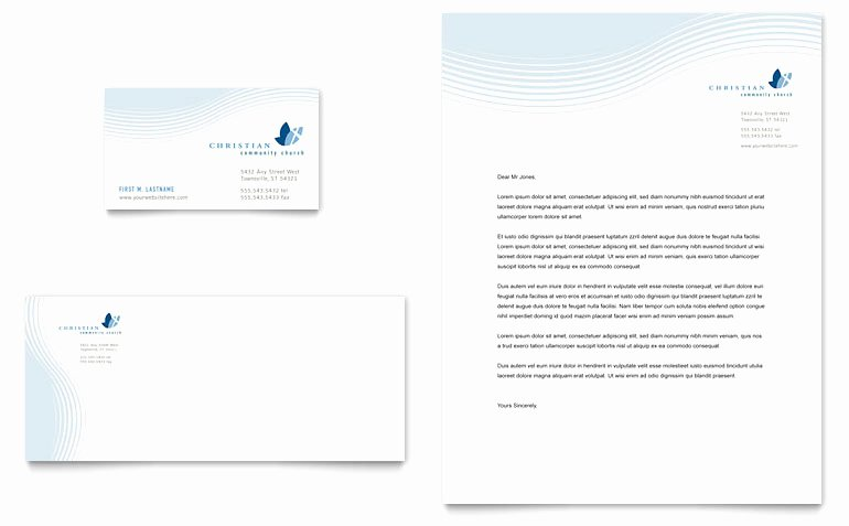 Free Religious Letterhead Templates New Christian Ministry Business Card & Letterhead Template