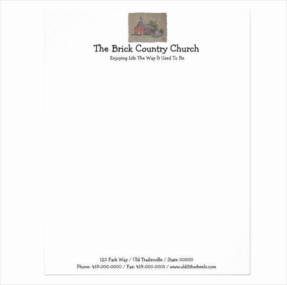 Free Religious Letterhead Templates New Sample Church Letterhead
