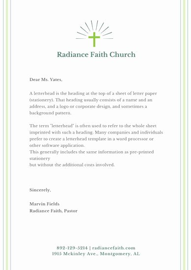 Free Religious Letterhead Templates Unique Customize 32 Church Letterhead Templates Online Canva