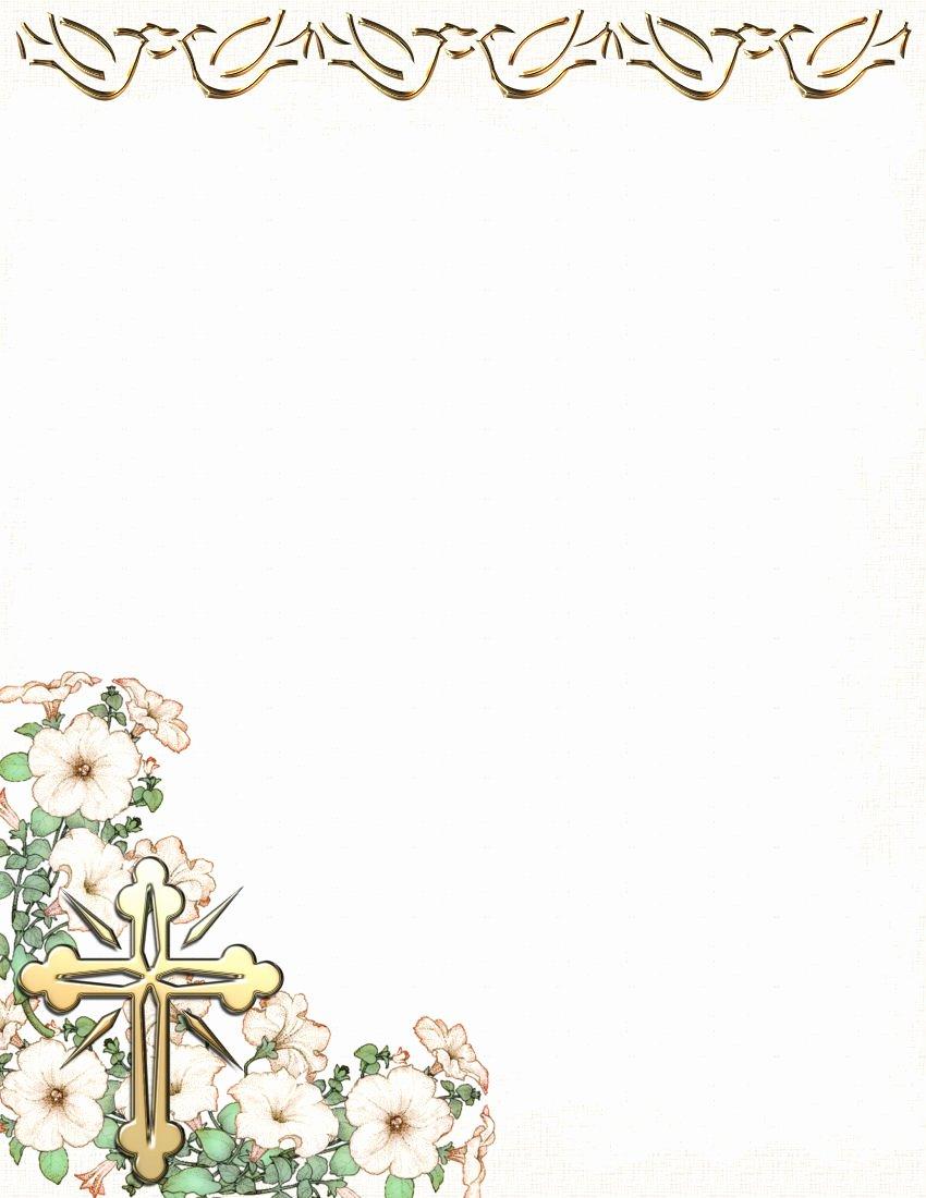 Free Religious Letterhead Templates Unique Religious Stationery theme Page 1