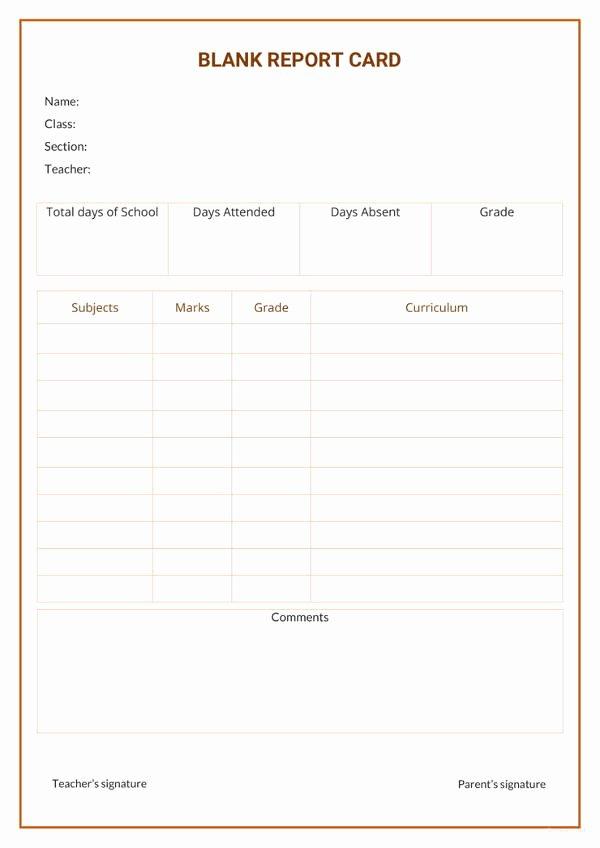 Free Report Card Template Beautiful 76 Report Samples In Docs
