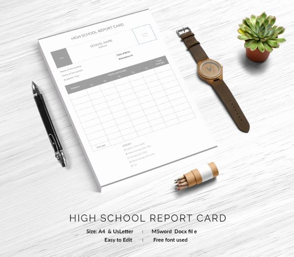 Free Report Card Template Elegant Report Card Template 28 Free Word Excel Pdf Documents