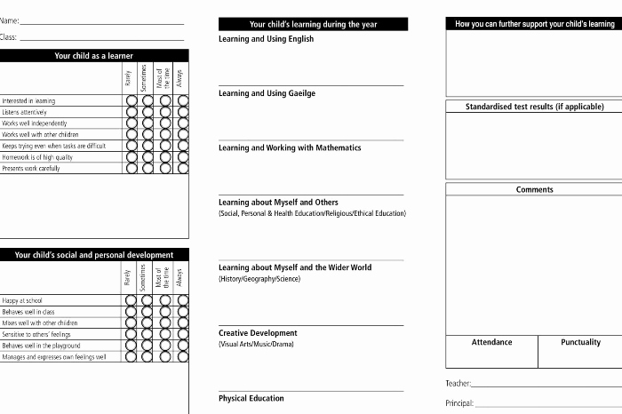 Free Report Card Template Elegant Report Card Template 33 Free Word Excel Documents