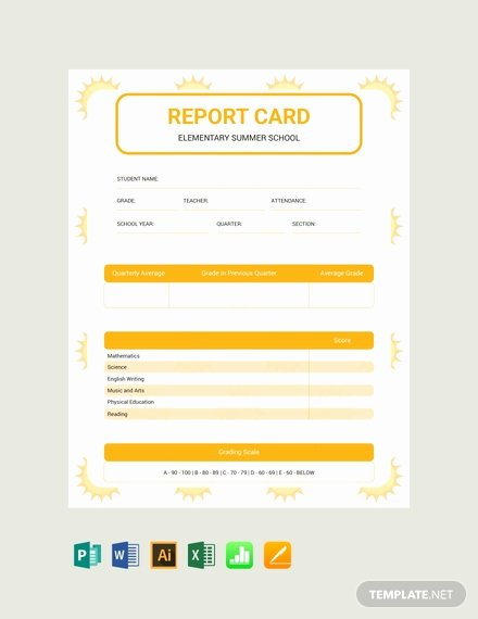 Free Report Card Template Luxury Free Blank Report Card Template Download 154 Reports In
