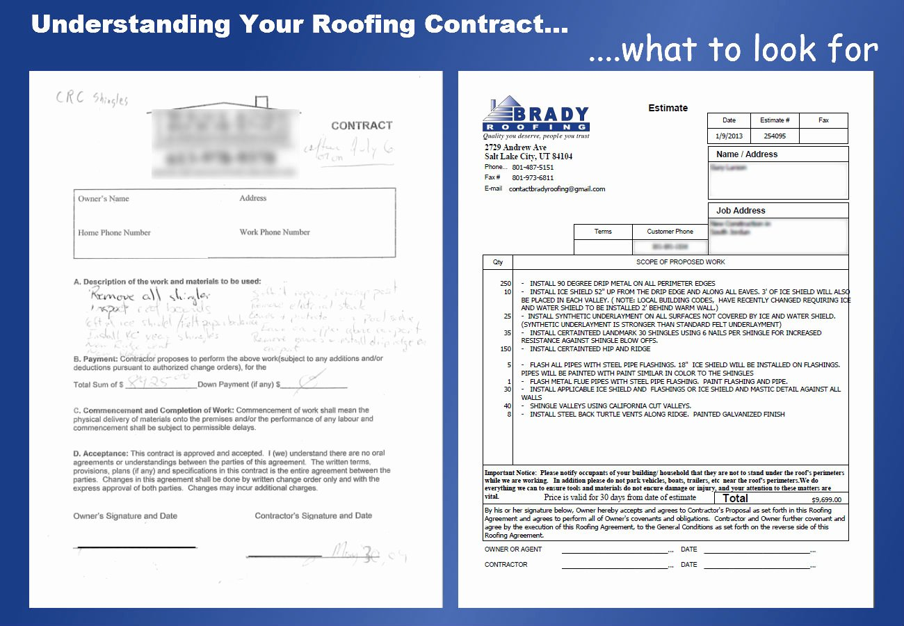 Free Residential Roofing Contract Template Fresh Roofing Contract Free Printable Documents