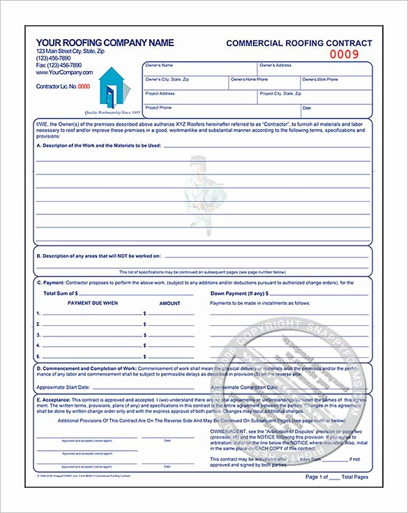 Free Roofing Contract Template Elegant 12 Roofing Estimate Templates Pdf Docs Word