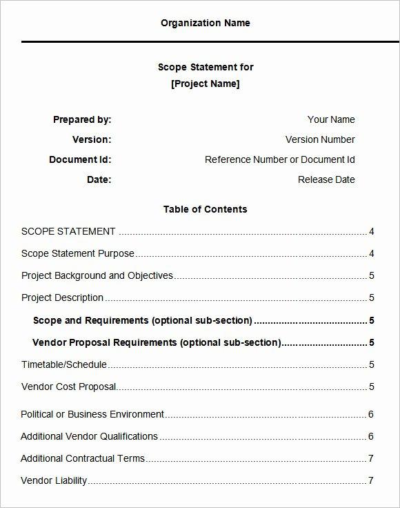 Free Scope Of Work Template Elegant 11 Scope Of Work Templates Free Word Pdf Documents