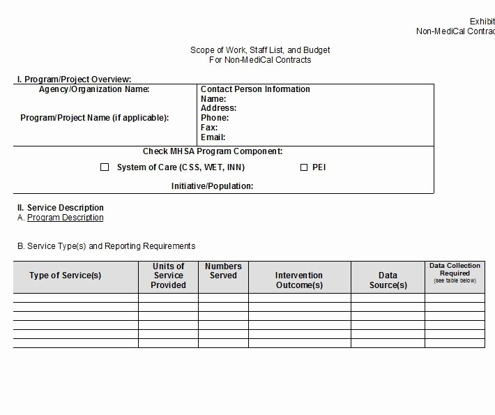 Free Scope Of Work Template Elegant 30 Ready to Use Scope Of Work Templates & Examples
