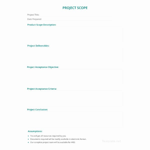 Free Scope Of Work Template Inspirational Scope Of Work Template 36 Free Word Pdf Documents