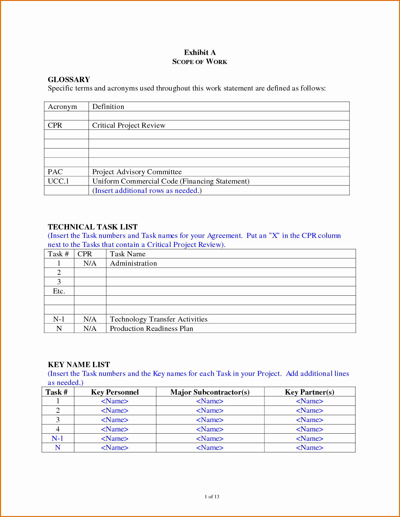 Free Scope Of Work Template Unique 7 Scope Of Work Template