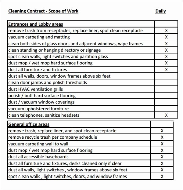 Free Scope Of Work Template Unique Free 21 Sample Scope Of Work Templates In Pdf Word