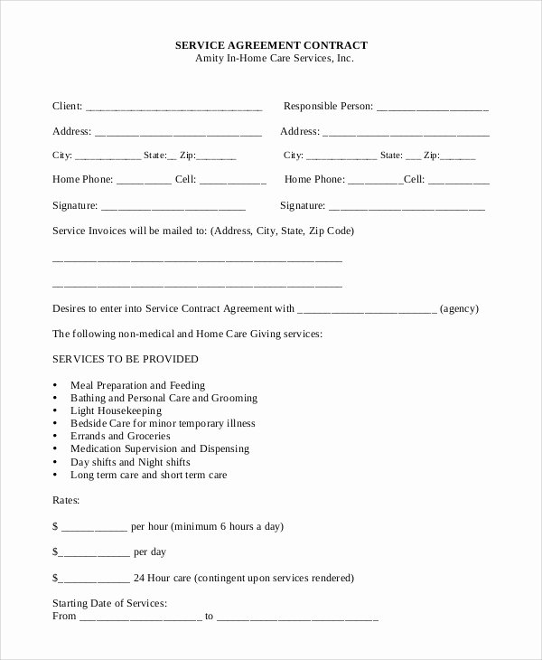 Free Service Contract Template Best Of Sample Service Contract 20 Examples In Pdf Word