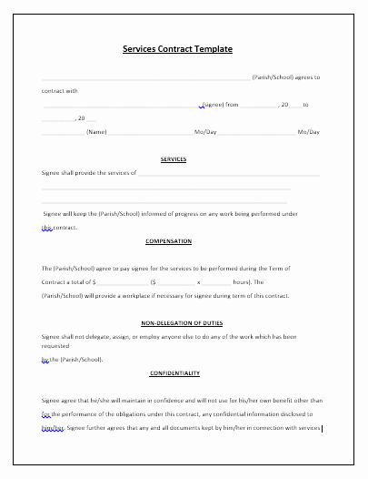 Free Service Contract Template Inspirational 5 Free Maintenance Contracts Samples and Templates