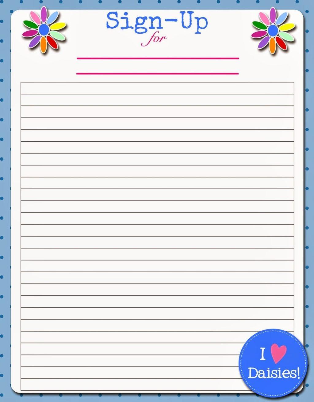 Free Sign Up Sheet Template Elegant Editable Printable Sign Up Sheet Meeting Memes Vlashed