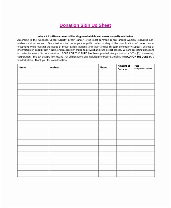 Free Sign Up Sheet Template Inspirational Sign Up Sheet 19 Free Pdf Word Documents Download