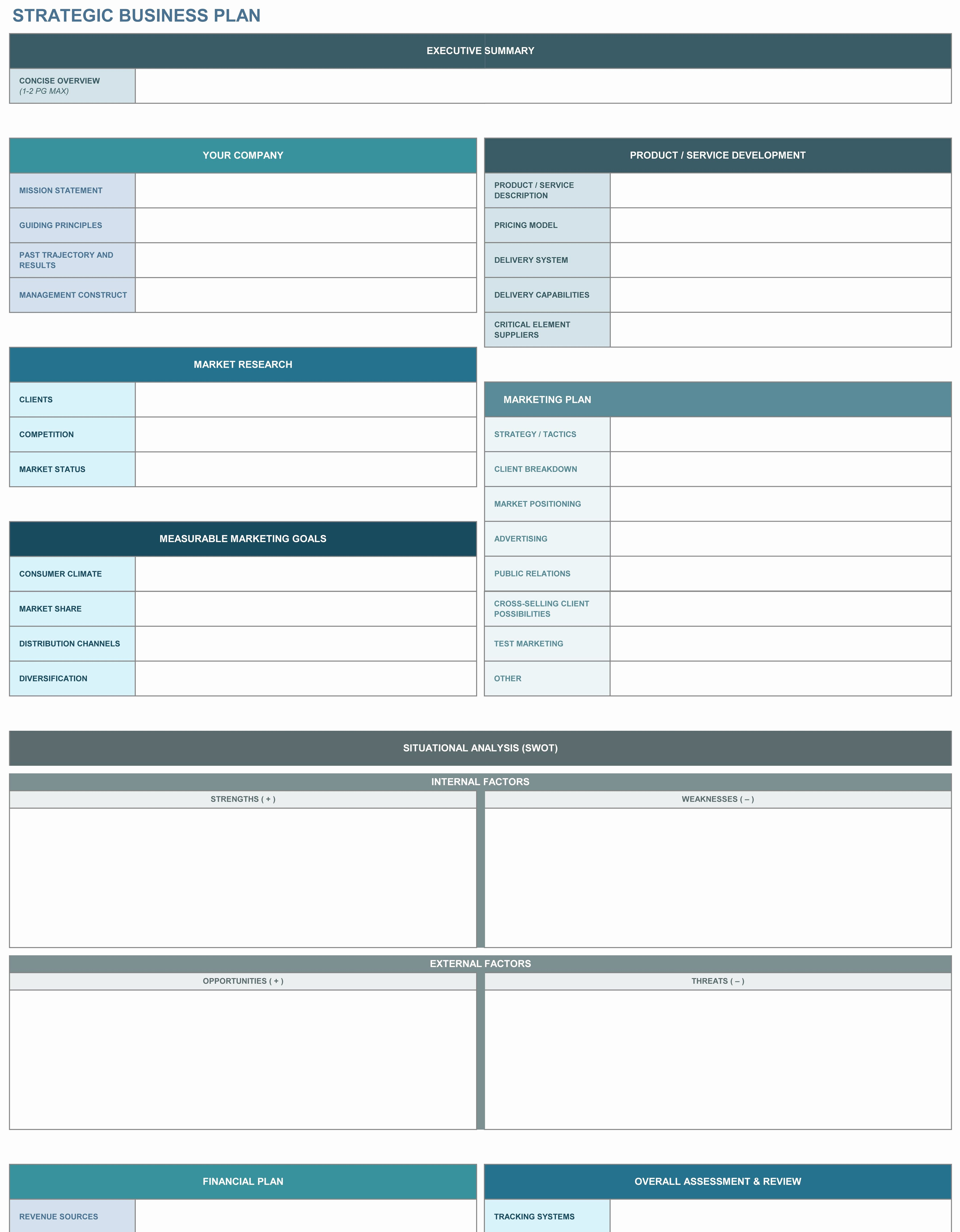 Free Strategic Plan Template Beautiful 9 Free Strategic Business Plan Excel Templates