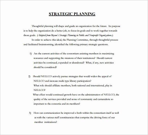 Free Strategic Plan Template Elegant 36 Strategic Plan Templates Pdf Docs