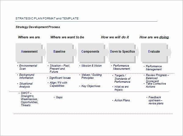 Free Strategic Plan Template Elegant Strategic Plan Template