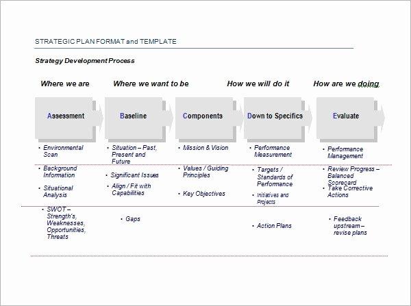 Free Strategic Plan Template Fresh 30 Strategic Plan Templates Pdf Word