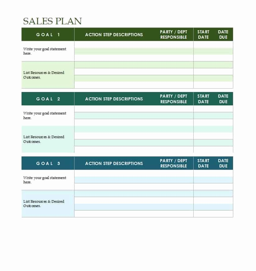 Free Strategic Plan Template Fresh 32 Sales Plan & Sales Strategy Templates [word & Excel]