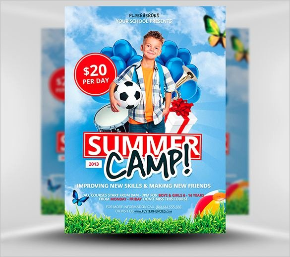 Free Summer Camp Flyer Template Awesome 14 Best Summer Camp Flyer Templates