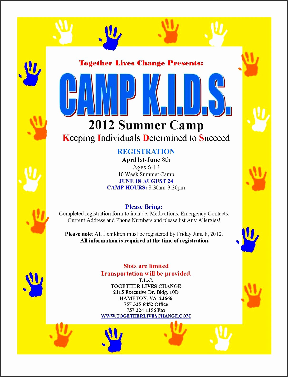 Free Summer Camp Flyer Template Awesome 5 Free Summer Camp Registration form Template