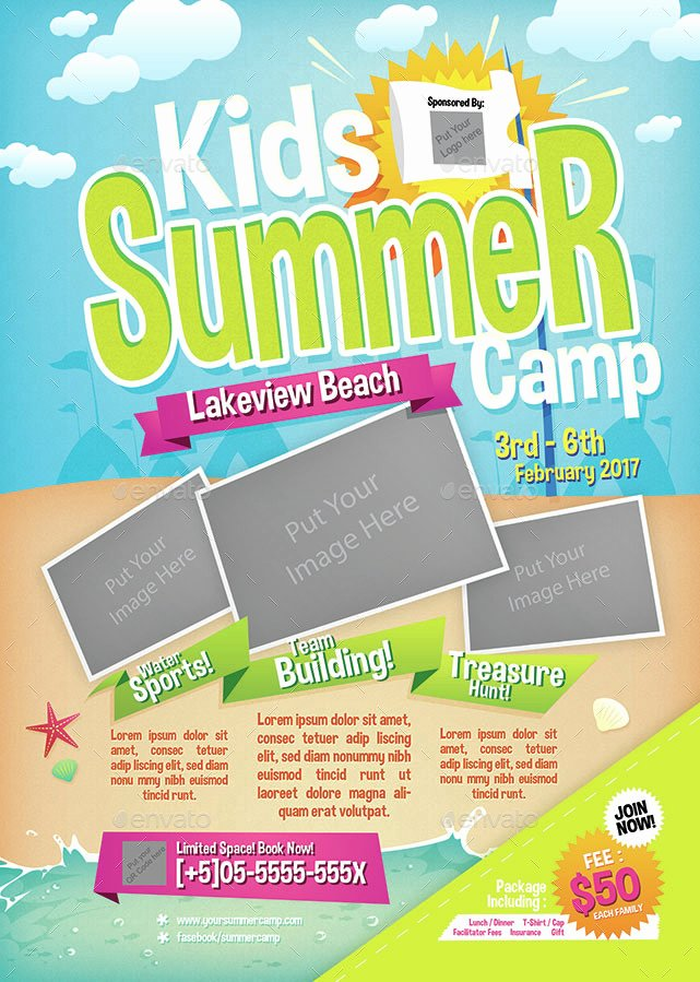 Free Summer Camp Flyer Template Awesome Kids Summer Camp Flyer by Shamcanggih