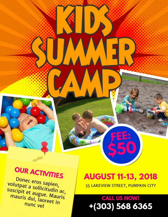 Free Summer Camp Flyer Template Awesome Kids Summer Camp Flyer Template