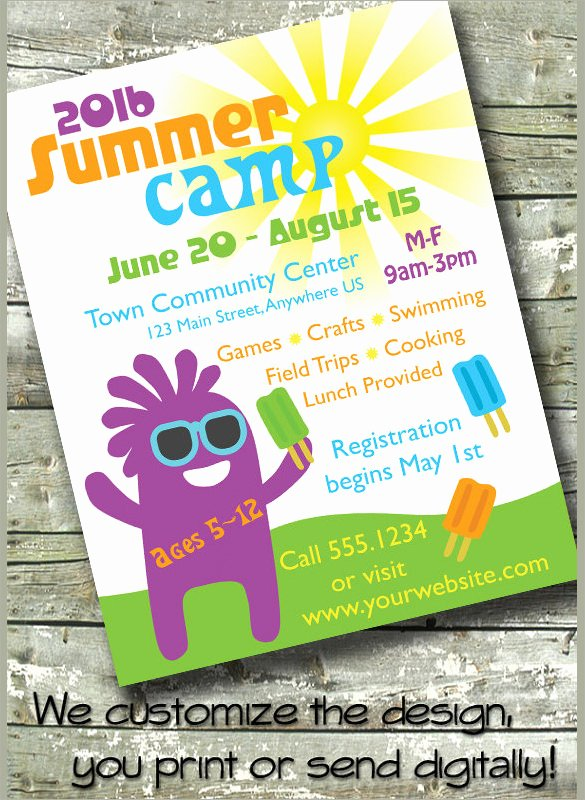 Free Summer Camp Flyer Template Beautiful 17 Summer Camp Flyer Templates Word Psd Ai Eps Vector