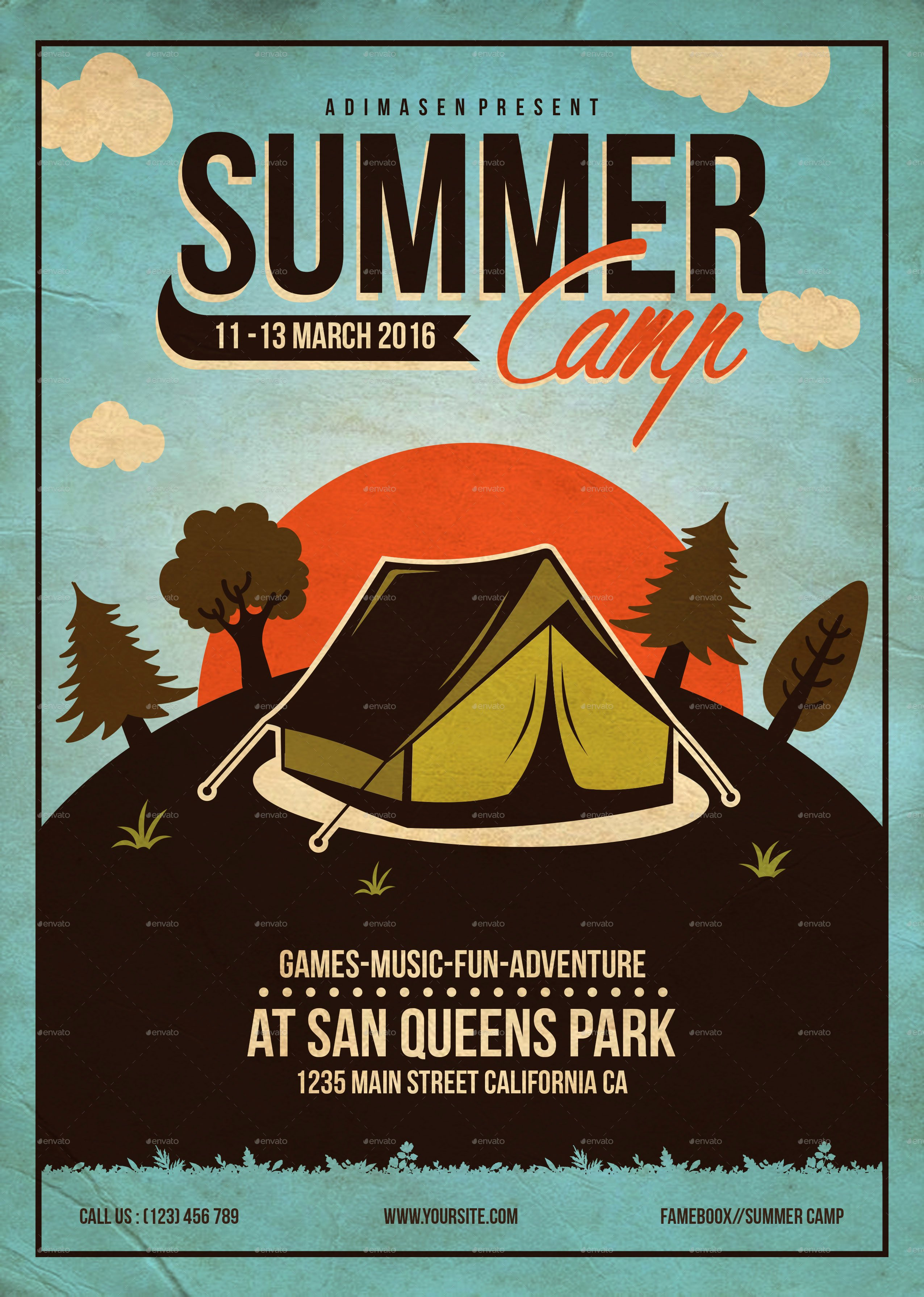 Free Summer Camp Flyer Template Beautiful Summer Camp Flyer Template by Adimasen