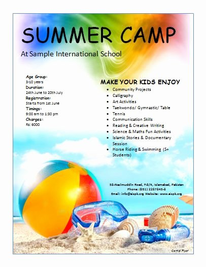Free Summer Camp Flyer Template Best Of 26 Best Flyer Templates Images On Pinterest