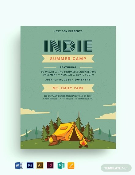 Free Summer Camp Flyer Template Fresh 21 Free Summer Camp Flyer Templates