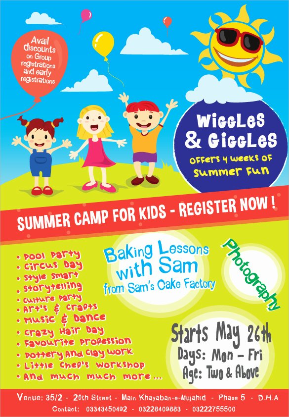 Free Summer Camp Flyer Template New 17 Summer Camp Flyer Templates Word Psd Ai Eps Vector