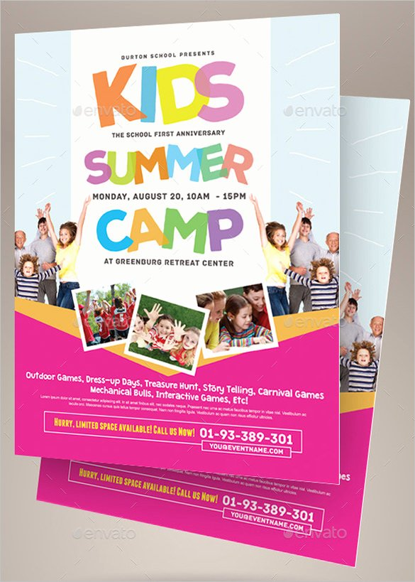 Free Summer Camp Flyer Template Unique 51 Summer Camp Flyer Templates Psd Eps Indesign Word