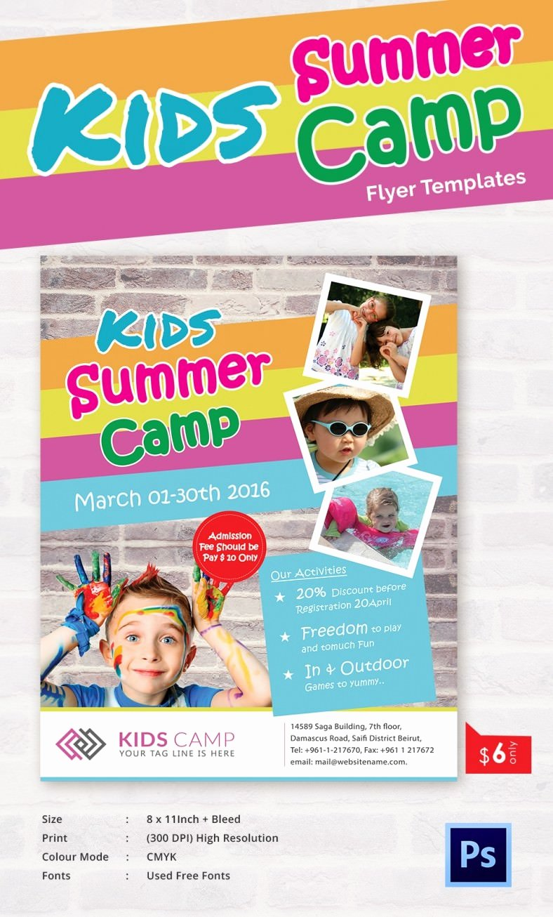 Free Summer Camp Flyer Template Unique Summer Camp Flyer Templates – 47 Free Jpg Psd Esi