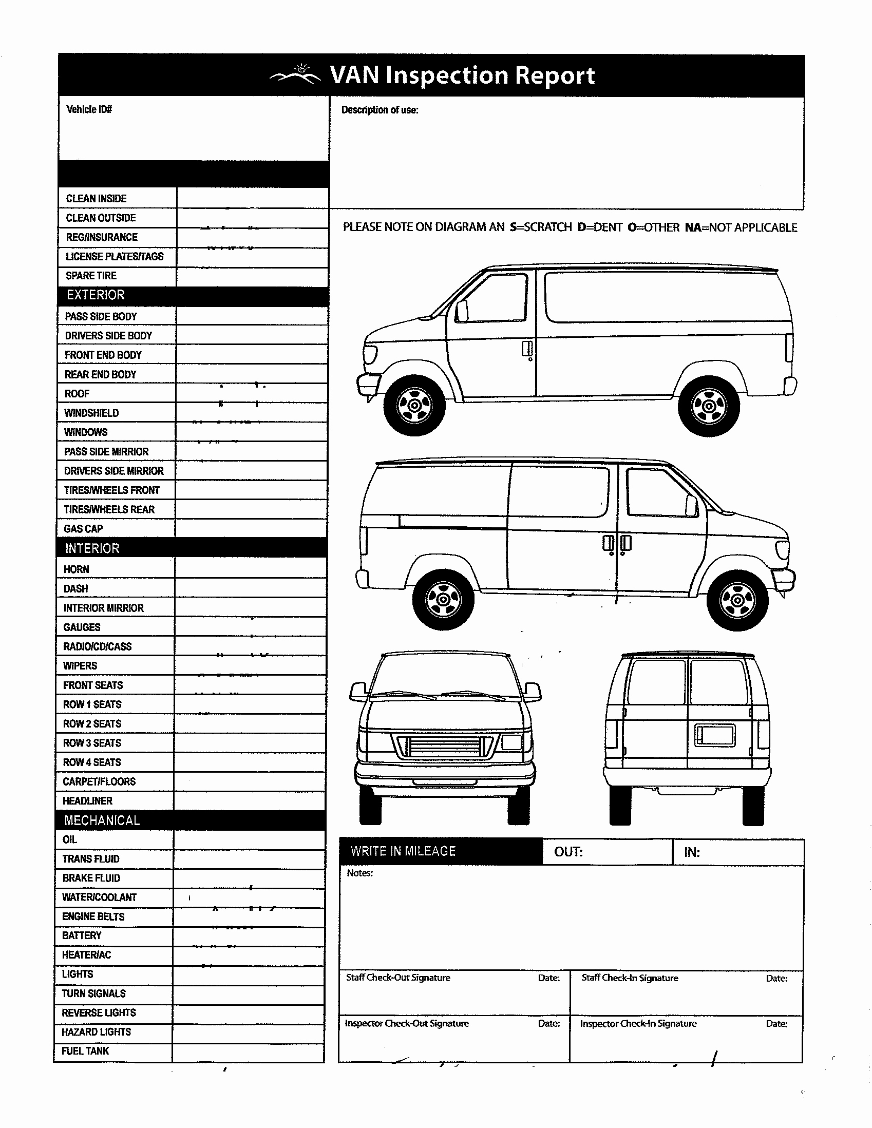 Free Vehicle Inspection form Template Awesome 11 Best S Of Pickup Truck Inspection form Template