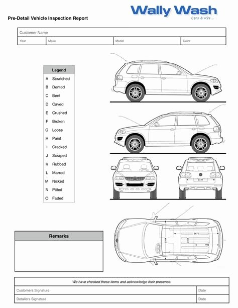 Free Vehicle Inspection form Template Elegant Vehicle Damage Inspection form why You Should Not Go to