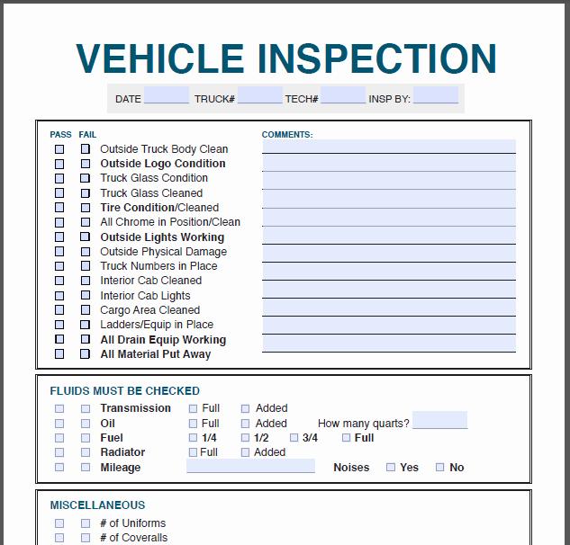 Free Vehicle Inspection Sheet Template Awesome Profit Rhino™