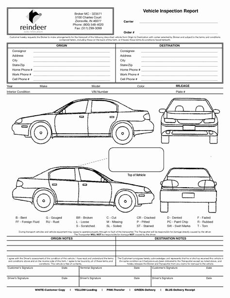 Free Vehicle Inspection Sheet Template Best Of Image Result for Vehicle Damage Inspection form Template
