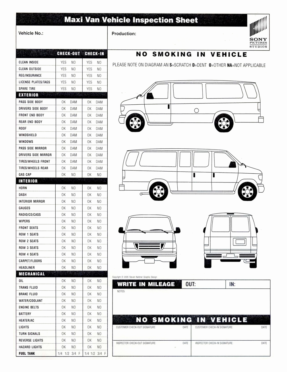 Free Vehicle Inspection Sheet Template New Annual Vehicle Inspection form Free