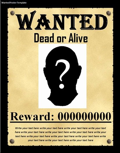 Free Wanted Poster Template Awesome 10 Great Wanted Poster Template Collection