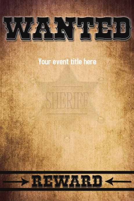 Free Wanted Poster Template Beautiful Wanted for Reward Wild West Poster Flyer Funny