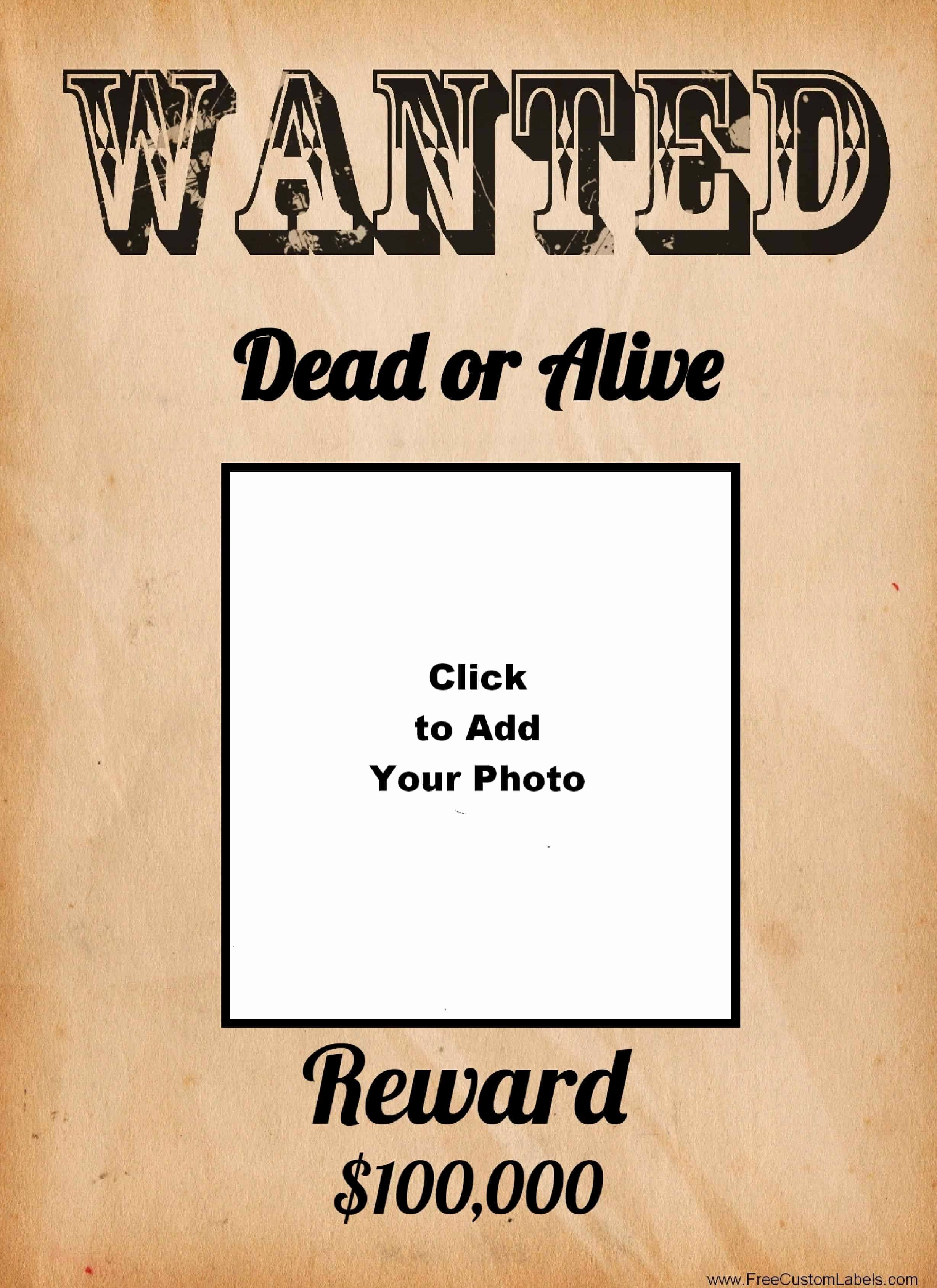 Free Wanted Poster Template Best Of Free Wanted Poster Maker
