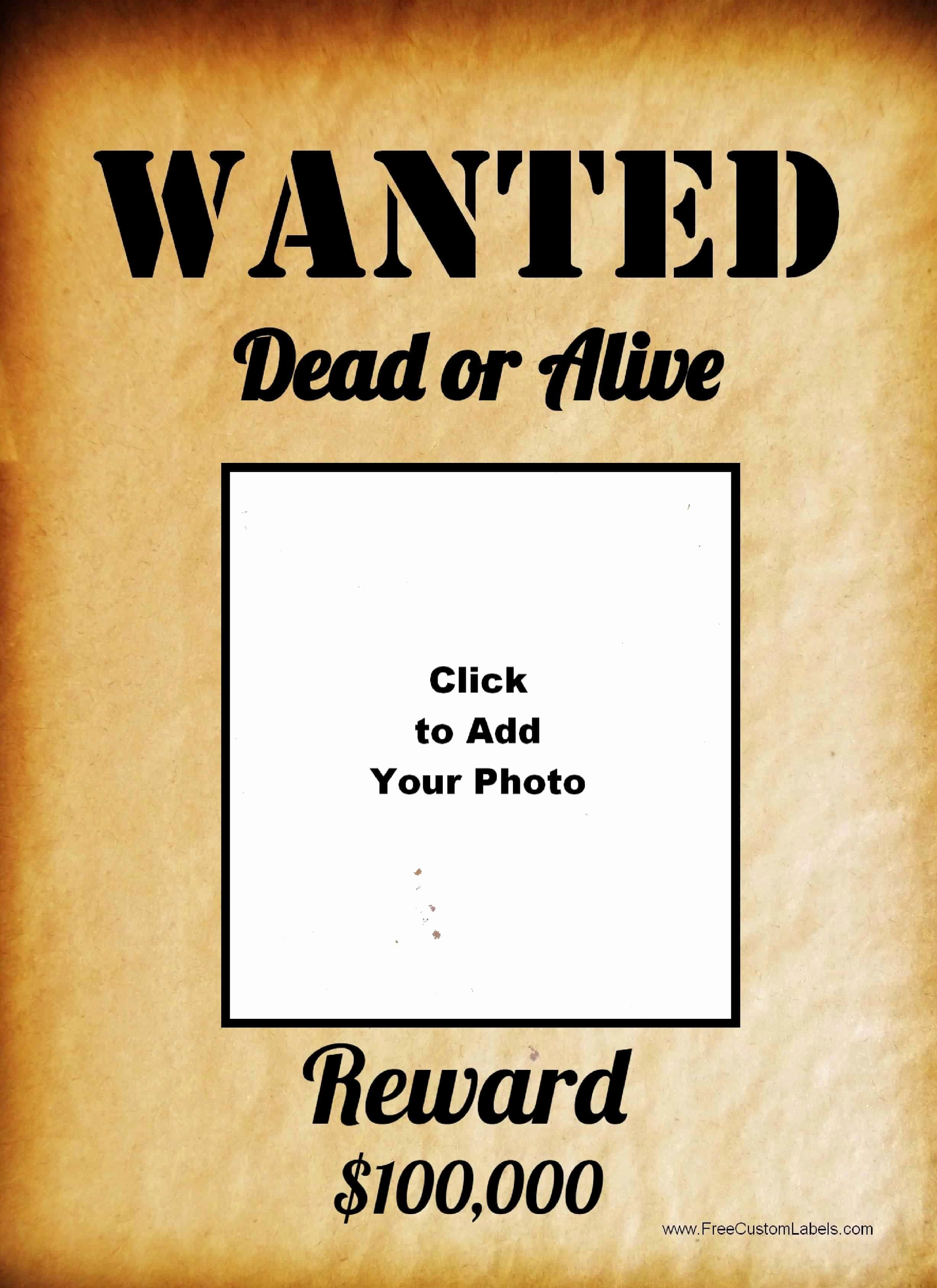 Free Wanted Poster Template Inspirational Free Wanted Poster Maker