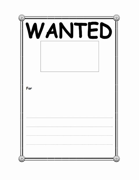 Free Wanted Poster Template Lovely 29 Free Wanted Poster Templates Fbi and Old West