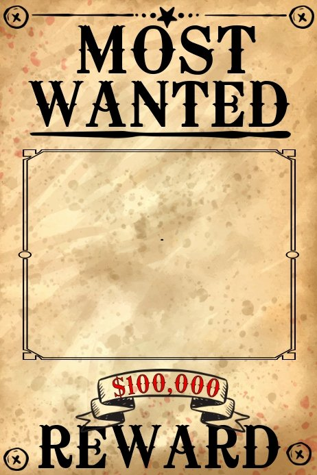 Free Wanted Poster Template Unique Blank Wanted Poster Template