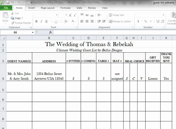 Free Wedding Guest List Template Awesome Free Downloadable Wedding Guest & Rsvp List