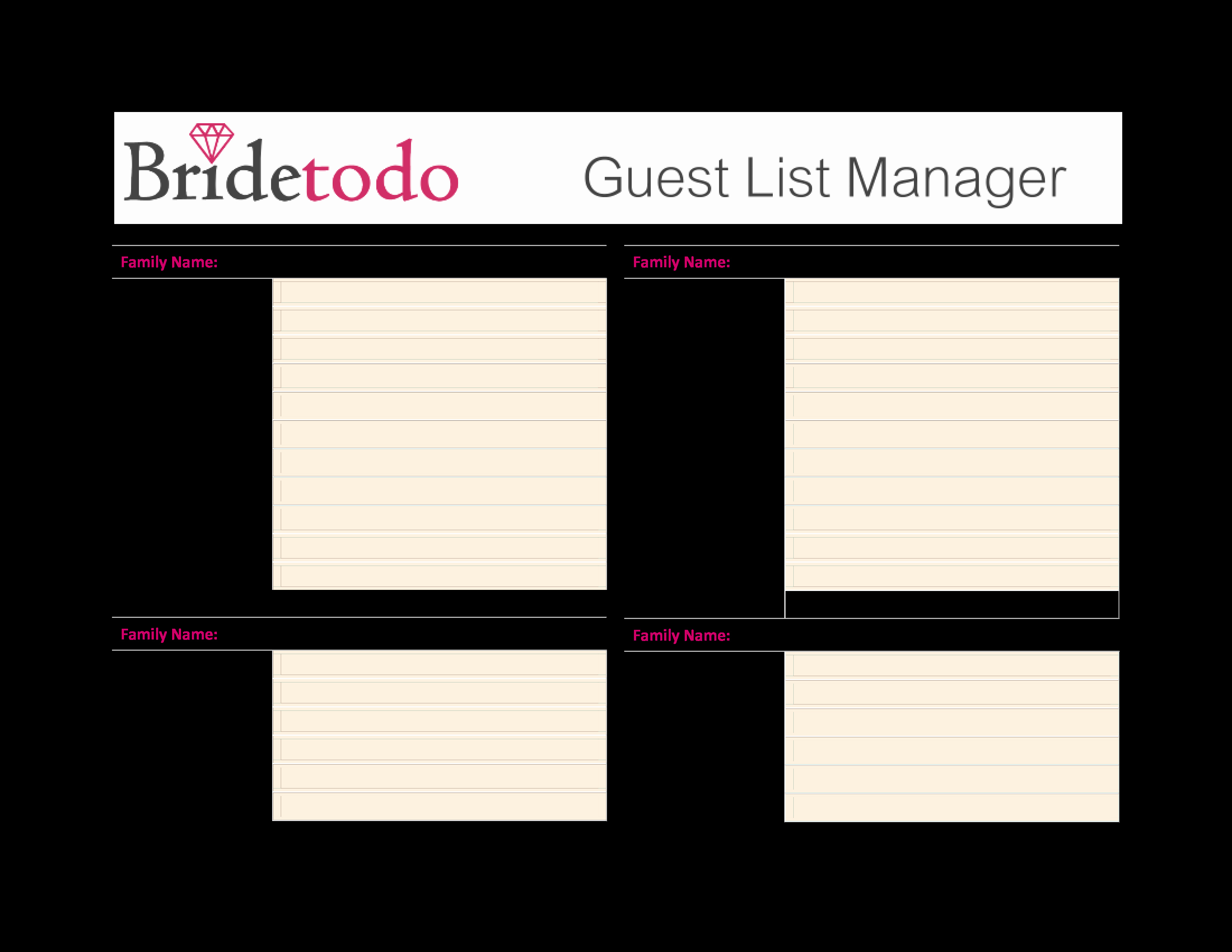 Free Wedding Guest List Template Luxury Guest List Template for Wedding – 35 Beautiful