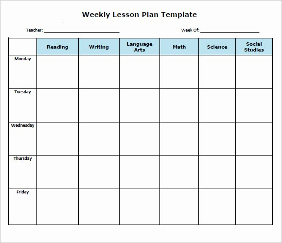 Free Weekly Lesson Plan Template Beautiful Sample Weekly Lesson Plan 8 Documents In Pdf Word