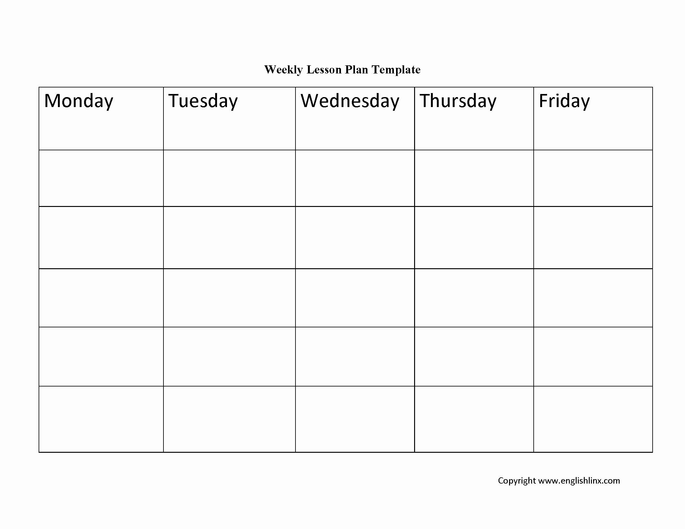 Free Weekly Lesson Plan Template Best Of Lesson Plan Template